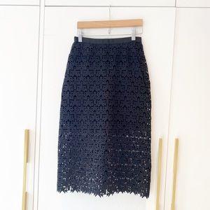 Beautiful laser cut skirt like Self-Portrait